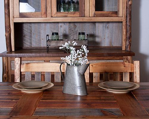 Log Dining Room Furniture Barn Wood Amp Aspen Table Chair